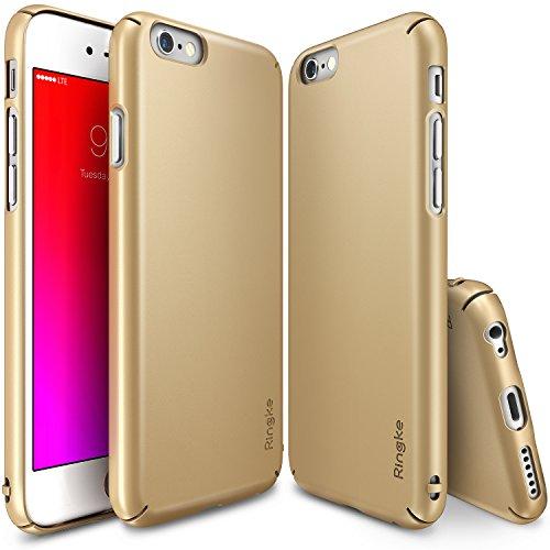 Cover per iPhone 6/ 6S Ultra-Sottile in plastica dura ( Oro) + Pellicola protettiva per lo schermo.