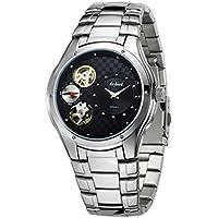Uomini daffari orologio/Orologio da uomo in acciaio per il tempo libero/ impermeabile forma vuota/ double-movimento orologio-D