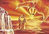 Artland Qualitätsbilder I Wandbilder selbstklebende Wandfolie 100 x 70 cm Liebe Erotik Paar Malerei Orange A5OH Liebespaar