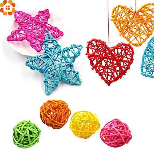 DioKlen - 15PCS Mix Stile Rattan Kugel DIY Sepak Takrawbällen Kinder Spielzeug Startseite Ornament & Weihnachten/Geburtstag / Hochzeit Dekoration