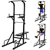 Best Fitness Power Towers - Physionics® Power Tower | with Weight Bench, Pull-Up Review