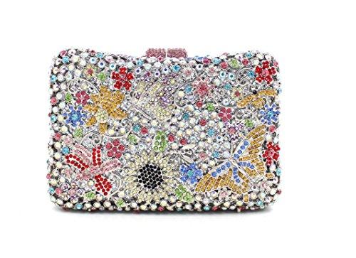 Damen Abend packt Diamant Strass Diamanten Diamanten Diamanten Diamanten Brautjungfer Handtaschen Bankett-Packs color 3