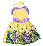 Kilkari kid's Cotton Haulter Frock_Yello...