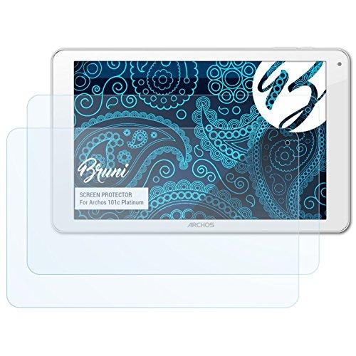 Bruni Schutzfolie für Archos 101c Platinum Folie, glasklare Bildschirmschutzfolie (2X)
