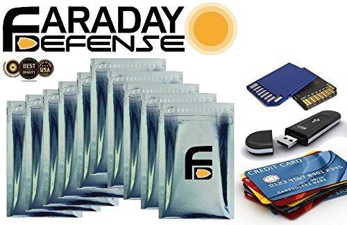 Tarjeta de crédito RFID Protección bolsas mangas Premium 10pc Uber grueso y pesado deber jaula de Faraday 2,5x 4para Tarjeta de crédito USB disco de memoria SD