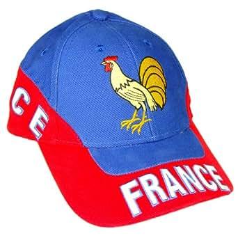 Souvenirs de France - Casquette Coq Gaulois 'Team France' - Taille réglable - Couleur : Bleu