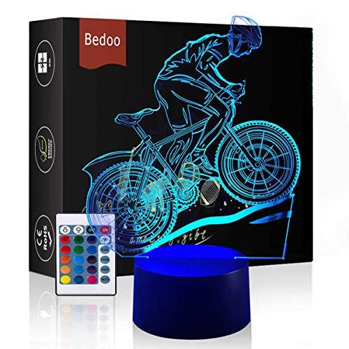 henk Magie Flying Bike Lampe 3D Illusion 7 Farben Touch-schalter USB Einsatz LED-Licht Geburtstagsgeschenk und Party Dekoration ()