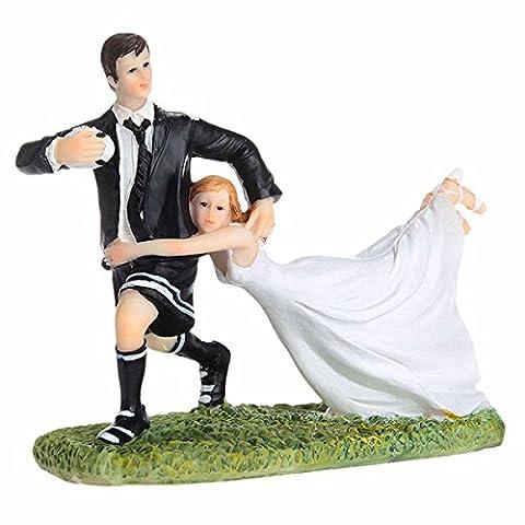 Feoya Süße Hochzeitpaar Tortenfigur Brautpaar Brautaccessoires Tortendekoration - Fußball