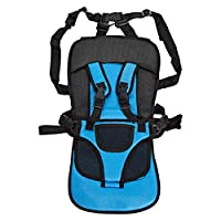 Portable Multi-Function Baby Car Safety Seat chair cushion, Blue and Black