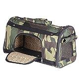 Groß Transporttasche Hundetasche Tragetasche für Hunde bis 4kg Katzentasche Hundebox Chihuahua 51*35*25 cm PC24