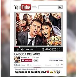 Marco photocall personalizado YouTube. Impreso en cartón de 4mm.