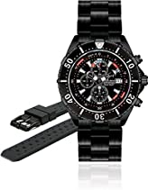Chris Benz Depthmeter Chronograph 300m CB-C300-LE Herrenchronograph Tiefenmesser