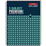 Luxor 5 Subject Spiral Premium Exercise Notebook, Single Ruled - (18cm x 24cm), 250 Pages