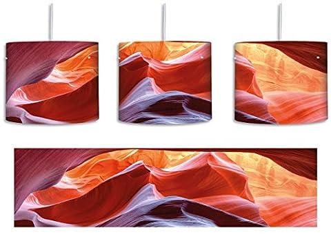 Antelope Canyon Arizona inkl. Lampenfassung E27, Lampe mit Motivdruck, tolle Deckenlampe, Hängelampe, Pendelleuchte - Durchmesser 30cm - Dekoration mit Licht ideal für Wohnzimmer, Kinderzimmer, Schlafzimmer
