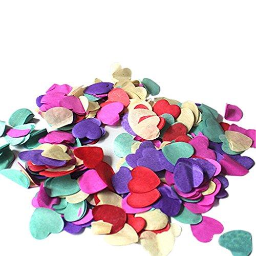 1000 unidades de confeti de papel arcoíris biodegradable para boda, fiesta, decoración
