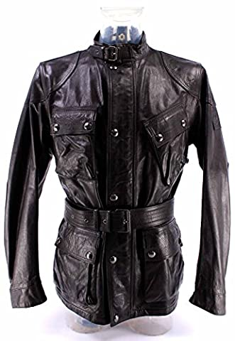 Men's Leather Jacket BELSTAFF 71050068 Panther 4 Pock Black Leather Limited New