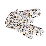 SPOTTED DOG GIFT COMPANY Topflappen Handschuh, hitzebeständig extra lang lustiges Hunde Design Küche Deko Hund Geschenk für Frauen und Koch