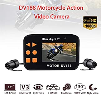 Motorrad-Dash-Cam-HD-1080p-27LCD-Bildschirm-130–Weitwinkel-Dual-Lens-Front-Rear-Motorcycle-Motorrad-Videoregorder-Driving-Recorder-Sports-Action-Kamera-mit-Night-Vision