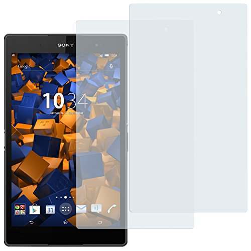 mumbi Schutzfolie kompatibel mit Sony Xperia Z3 Compact Tablet Folie klar, Displayschutzfolie (2x)