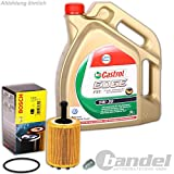 Bosch ÖLFILTER 1457429192 + 5 Liter CASTROL MOTORÖL 5W30 + ABLASSSCHRAUBE