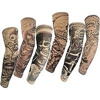 Autek Hot Mangas tatuadas, tatuaje temporal, talla M, 6 unidades