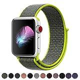 Cinturino Per Apple Watch 42MM, HILIMNY Morbido Nylon Cinturini Per iWatch Apple Serie 3, Serie 2, Serie 1, Nike+, Hermès, Edition (Flash, 42MM)