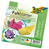 Folia 8957 - Faltblätter 7,5 x 7,5 cm, 70 g/qm, 500 Blatt sortiert in 10 Farben