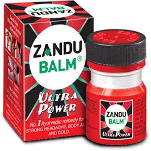 Zandu Balm Ultra Power - 8 ml. Ayurvedic remedy for strong Headache, Body Ache, Cold -