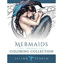 Mermaids - Calm Ocean Coloring Collection (Fantasy Art Coloring by Selina)