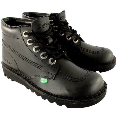 Unisex Kids Youth Kickers Kick Hi Back To School Leather Boots Shoes...