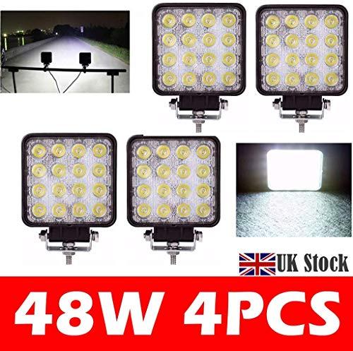 HYLH 48W LED Work Light Flood Beam Floodlights 60