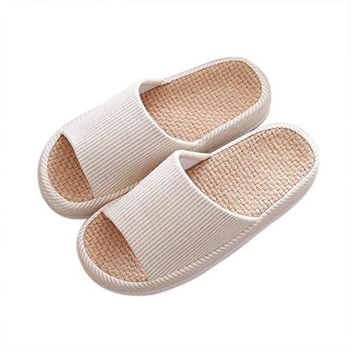 Damen Herren Flache Hausschuhe Anti-Rutsch Indoor Pantoffeln Hausschuhe Blau phy6t2E