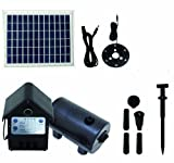 T.I.P. Solar-Teichpumpe SPS 800/12, LED Beleuchtung, 8 W, bis 800 l/h Fördermenge für Gartenteich oder Springbrunnen
