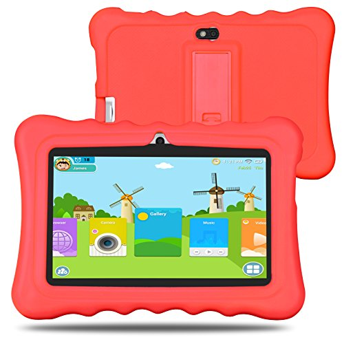 """Bm enfants Tablet 8G 1G Android 5.1Lollipop 7""""iwawa pré-installé avec carnet de jeux application et audio Rot"""