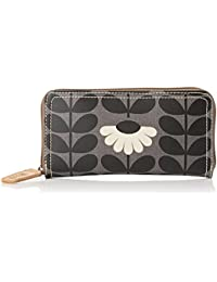 Orla Kiely Women's Big Zip Wallet Wallet Black (Jet)
