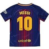 Camiseta 1ª Equipación Replica Oficial FC BARCELONA 2017-2018 Dorsal MESSI - Tallaje NIÑO JUNIOR (10 AÑOS)
