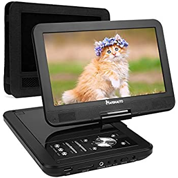 "NAVISKAUTO 10,1"" HD Tragbarer DVD Player 5 Stunden Akku Auto Ferseher Kopfstütze Monitor Media Video DVD-Player Kopfstützenhalterung SD/USB AV IN/Out PD1001"
