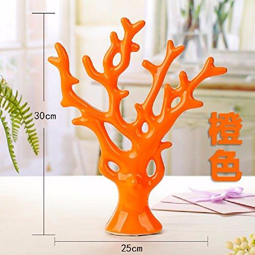 ZPSPZ Inneneinrichtungsgegenstände Schmuck Ornamente Arbeitszimmer Möbel Keramik - Handwerk Hochzeitsgeschenk,Orange