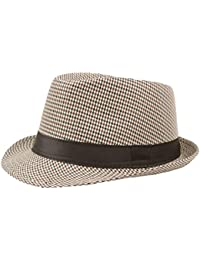 04c3038e1c927 Turkey Unisex Fedora Trilby Hat Gangster Cap Summer Beach Sun Straw Hat  Black Band Panama Jazz