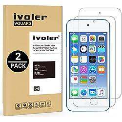 ivoler [Pack de 2] Verre Trempé pour Apple iPod Touch 7/6 / 5 (7e, 6e et 5e Génération), Film Protection écran en Verre trempé - sans Bulles d'air -Ultra Résistant Dureté 9H pour iPod Touch 7/6/5