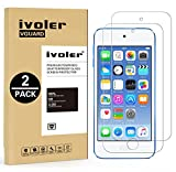 [2 Pack] iPod Touch 6G & 5G Protector de Pantalla, iVoler Protector de Pantalla de Vidrio Templado...
