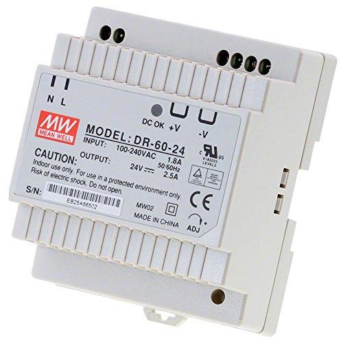 HomeMatic Hutschienen-Netzteil DR-60-24, 24 V, Mean Well