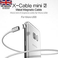 Digi4U ® WSKEN X-Cable metallo cavo mini 2Micro USB magnetica per Sony Xperia Z5Premium Compact Z4Z3M5M4 - 24k Miniatura