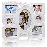 Cheeroyal Marco de fotos con reloj blanco (5992 32x27cm)