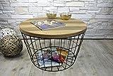 Livitat® Beistelltisch Couchtisch rund rostig Vintage Metall Industrie Loft Living LV5051