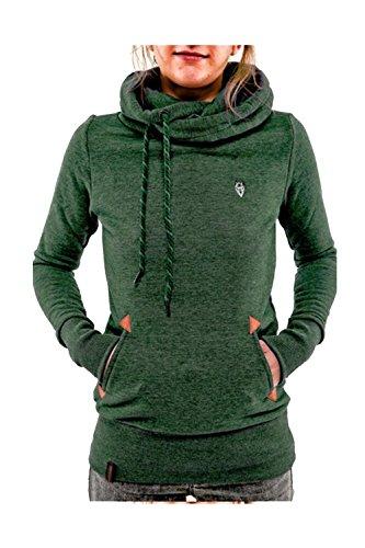 9bc80b2ae7c37 moonpin. Abrigos y chaquetas de Casual sorteo cadena polar sudadera con capucha  mujer