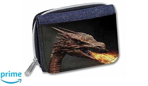 Fierce Fire Flame Mouth Dragon Girls//Ladies Denim Purse Wallet Christm DRAG-2JW