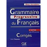 Grammaire Progressive Du Français. Niveau Intermédiaire - 3º Édition, Corrigés