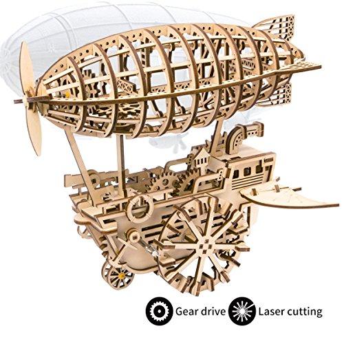 ROKR Laser Cut Puzzle de Madera con Engranaje 3D Robotic Toys Kits Modelo de Adulto para Construir niños o Adultos (Air Vehicle)
