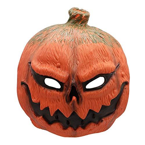 Coooolla Máscara de látex de Halloween Cabeza de máscara de la Calabaza asustadiza Prop de Halloween